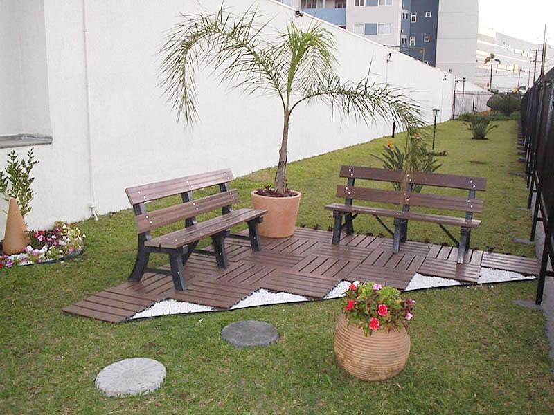 deck modular de madeira pl stica e ecol gica diversos modelos e cores. Black Bedroom Furniture Sets. Home Design Ideas